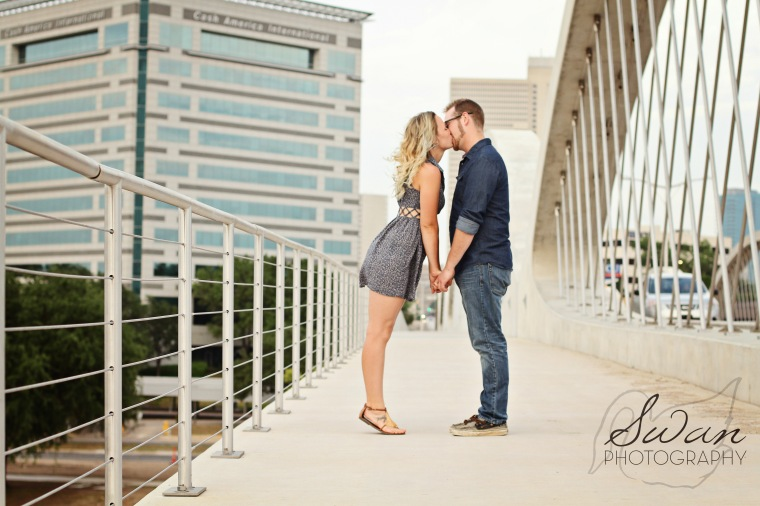 Fort Worth Engagement session, Swan Photography, DFW photographer, affordable photographer, affordable wedding photographer, love, engaged, 7th street bridge engagement session, DFW