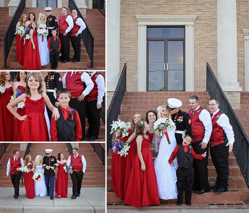 Mr. & Mrs. Petersen: Burkburnett Red, White, And Blue USMC