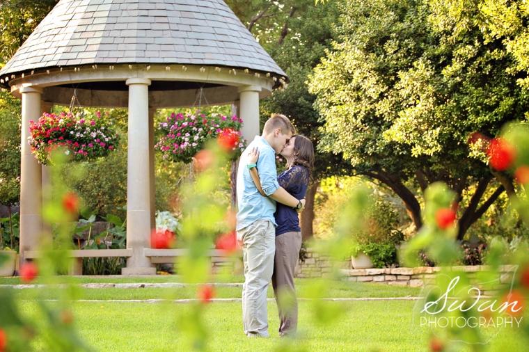 Swan Photography, affordable DFW photographer, DFW wedding photographer, DFW portrait photographer, Engagement session, Engagement photos, Fort Worth Botanic Garden engagement session, FWBG, Fuller Garden engagement session