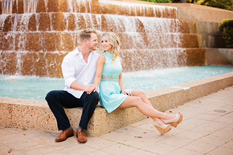 Sheena jerrod a ft worth water garden engagement session - Fort worth water gardens wedding ...